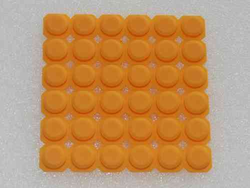 Silicone button DNR8888 yellow