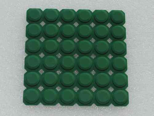 Silicone button DNR8888 green