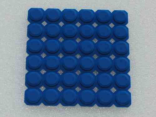 Silicone button DNR8888 blue