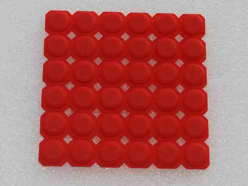 Silicone button DNR8888 red