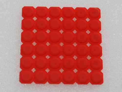 Silicone button DNR8888 shining red