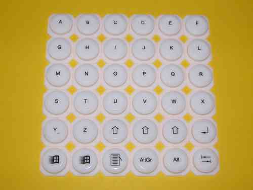 silicone key set  DNR8888 white A-Z ... DNR8855