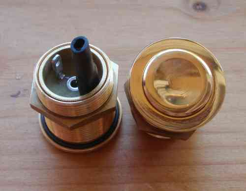 T1 push button brass